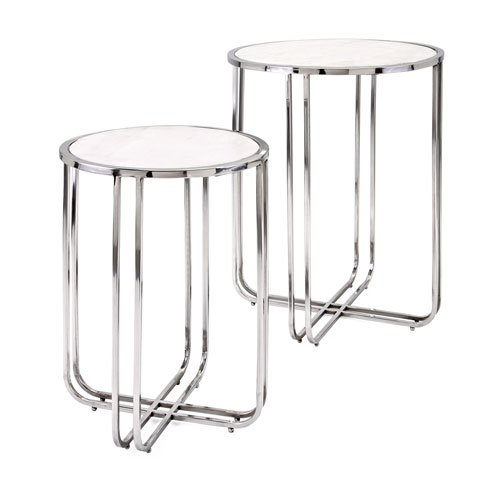 Marble Contemporary Lighting (IMAX Hachi Marble Side Tables, Set of 2)