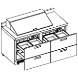 Delfield STD4464N-18M Mega Sandwich/Salad Top Refrigerator