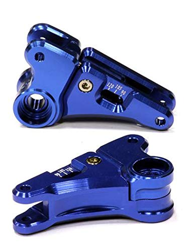 Integy RC Model Hop-ups T4129BLUE Billet Machined Multi Setting 90-to-120 Front Rocker for 1/10 E-Revo & Revo 3.3