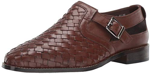 Leather Woven Sandals - STACY ADAMS Men's Caliban Woven Buckle Fisherman Sandal, Cognac 10 M US