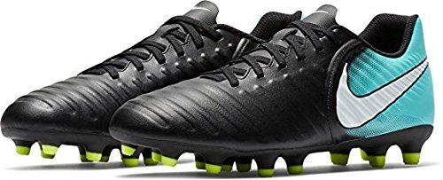 Nike Women's Tiempo Rio IV (FG) Firm-Ground Football Soccer Shoe (7.5 B(M) US, Black/White/Light Aqua/Volt) by Nike (Image #1)