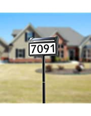 Modern Address Sign Plaques, Veofoo Solar Address Numbers for Houses with LED Lighted Up House Number for Outside, Street Yard Driveway Mailbox Garden Sign(Height 32 Inches, 1 Pack)