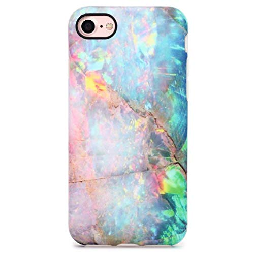 GOLINK iPhone 7 Case/iPhone 8 Case, Matte IMD Printing Slim-Fit Anti-Scratch Shock Proof Anti-Finger Print Flexible TPU Gel Case for iPhone 7/iPhone 8 - Colorful Marble