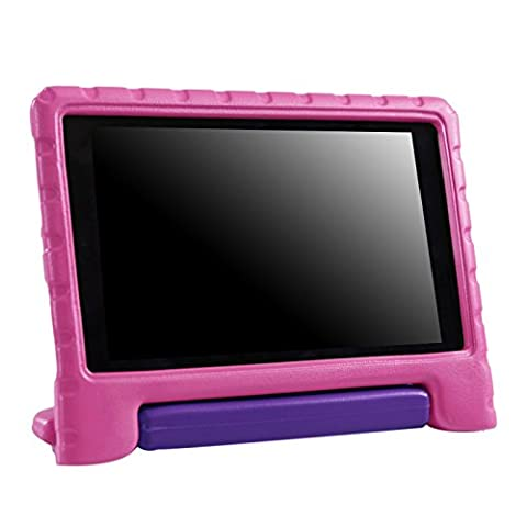 HDE Kids Case for 2017 Fire HD 8 (7th Gen) and 2016 Fire HD 8 (6th Gen) Tablet Cover Lightweight Shock Proof Handle Stand for 6th Generation Amazon Fire HD8 (2017 and 2016 Release) (Pink & (Kindle Case Designer)