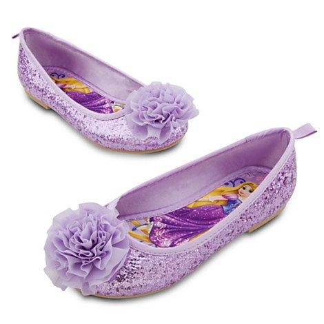 9d8ad2a299e Disney Store Princess Rapunzel Ballet Flats Costume Shoes Slippers Size 10   Amazon.co.uk  Toys   Games