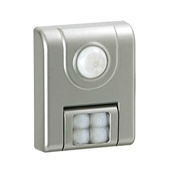 light it by fulcrum 4 led wireless motion sensor light silver - Led Motion Sensor Light