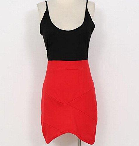 Kleider Damen Rundhalsausschnitt Wickelkleid Irregular Partykleider Paket Hüfte Kleider