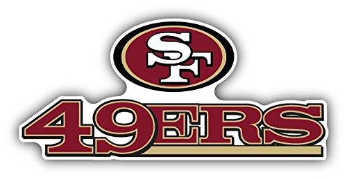 "San Francisco 49ers NFL Football Car Bumper Sticker Decal 6"" x 3"""