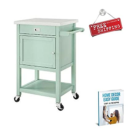 Amazon.com : Small Utility Cart Rolling Kitchen Island Cart Wheels ...