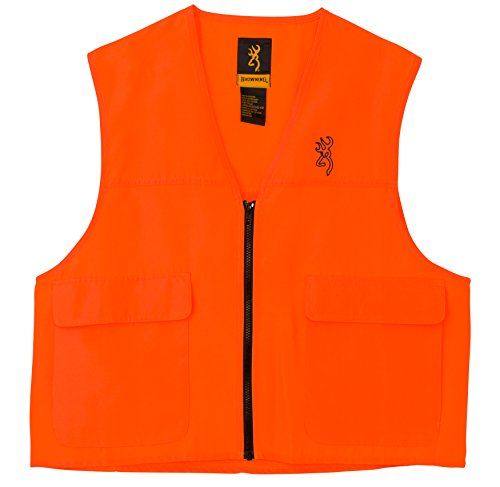 Browning Safety Blaze Overlay Vest Small (Blaze Orange Safety Vest)