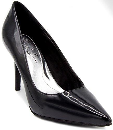 Mari A Felicia Stiletto Talon Pointu Orteil Pompe Robe Chaussure Sandale Noir Brevet