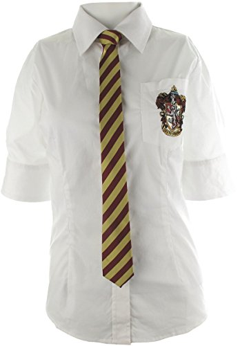 Harry Potter Gryffindor Offical Uniform Shirt with Tie, Unisex, X-large (Harry Potter Uniform Shirt)