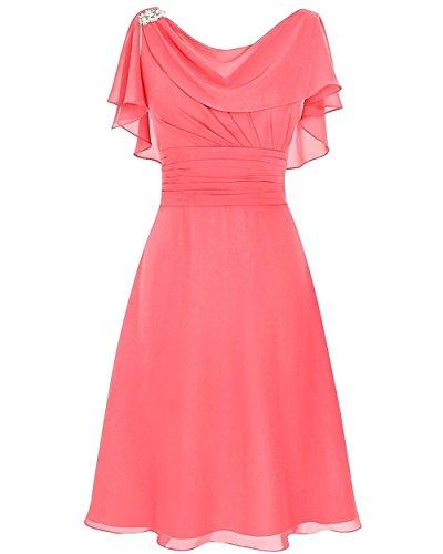 Dark Coral Cocktail Dresses