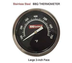"""Barbacoa Funland 3""""700F Indicador de la temperatura pit parrilla termómetro temperatura para Kamado Joe, Primo parrillas"""