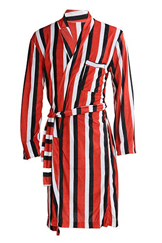 X Cosplay Men DP Striped Loose Unisex Bathrobe Movie Costume XCOSER XL