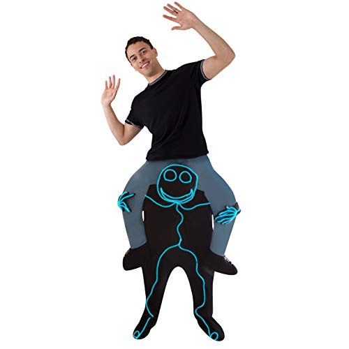 Light Up Body Suit (Morph One Size Fits Most Piggyback, Light Up Stick)