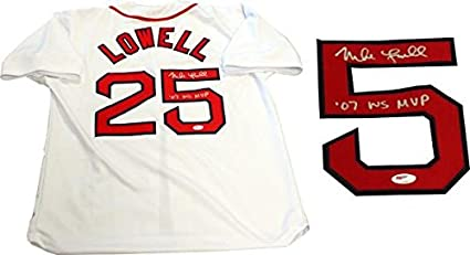Mike Lowell quot 07 WS MVP quot  Autographed Boston Red Sox Jersey (PSA) - 275ac29ffe6