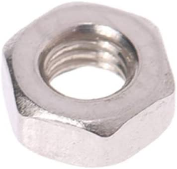 Beduan Metirc M10x1.5mm Hex Nut 50pcs Stainless Steel 304 Hexagon Nuts