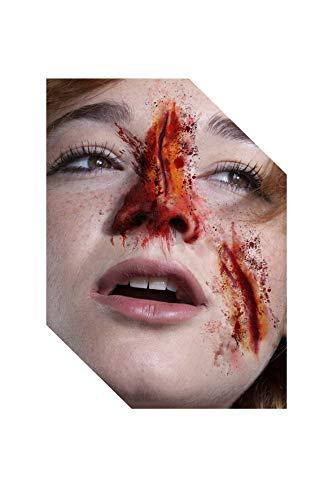 Faux Studio Zombie Cut Injury - Slit Wrist Wound 2-PC Latex Prosthetic Appliance. Red