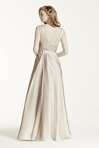 Gown Satin Length 4XLF15741 Bridal Tank Dress Petal Long Style Bridesmaid Ball Extra David's PF0nqxIF