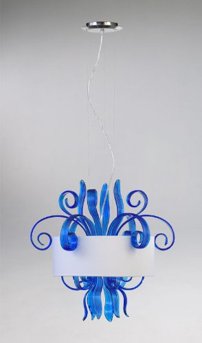 Glass Jellyfish Pendant Light in US - 7