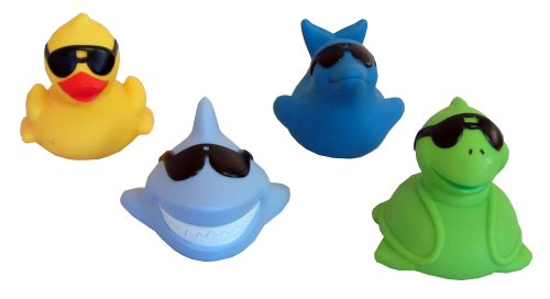 (GAME Floating Light Up Pals - 4 Pack (1 Duck, 1 Dolphin, 1 Shark & 1 Turtle))