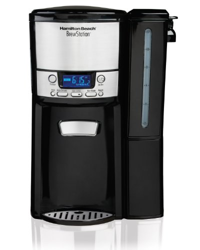 Hamilton Beach 12-Cup Coffee Maker, Programmable BrewStation Dispensing Coffee Machine (47900) (Best Way To Clean Coffee Machine)