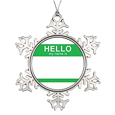 metal ornaments tree decorating hello my name is green beautiful christmas tree decorations snowflake ornament - Christmas Tree Decorations Names