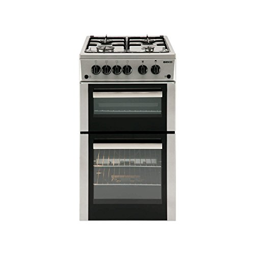 Beko bdvg592s Freestanding Gas Hob Silver–Kitchen (Independent, Silver, Rotary, Front, Enamelled Steel, Gas Hob)