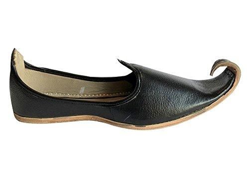 Step n Style Men Handmade Ivory Traditional Jamawarr-Leather-Khussa Aladdin Khussa 5woMY