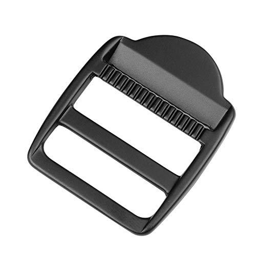 iHYAO Metal Ladder Lock Slider Buckles,Tension Locks Triglide for Belt Backpack Camping Bag Belt Suitcase (Black,Inner Diameter 30mm,4 PCS)