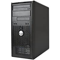 Business Desktop: Dell Optiplex 760 Tower - Intel Core 2 Duo 2.4GHz, 4GB RAM, New 1TB HDD, Windows 10 Pro-32 Bit, WiFi, DVD-ROM (Prepared By ReCircuit)