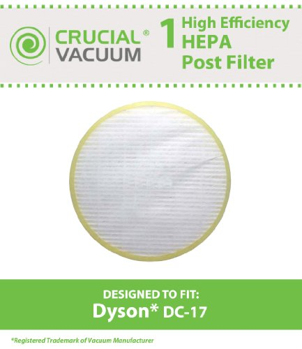 UPC 609722030151, Dyson DC17 HEPA Post-Motor Filter Fits ALL Dyson DC17 models; Compare to Dyson Post-Motor Filter Part # 911235-01; Designed & Engineered by Crucial Vacuum