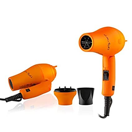 Mini Secador Gettin Fluo color naranja, con difusor