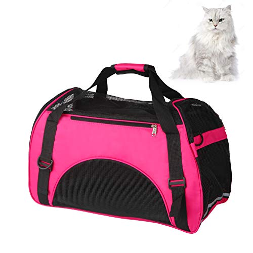 perfrom Pet Carrier with Sleeping Mat, Airline Approved Soft Sided Pet Travel Carrying Handbag for Small Dogs Cats…