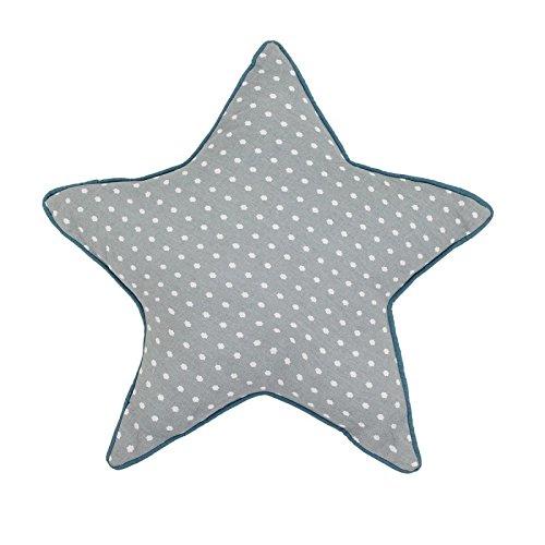 Cojín Estrella en algodón nubes, gris, 50.000000: Amazon.es ...