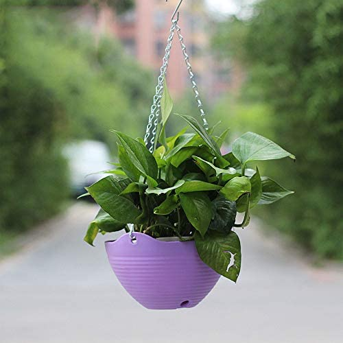 Wankd Hängepflanztopf Hanging Sphere, 2 Stück Körbe Blumenampel Strick Halterung Set Haken Hängeampeln Hängepflanztopf, Blumen Nicht enthalten (Beige)