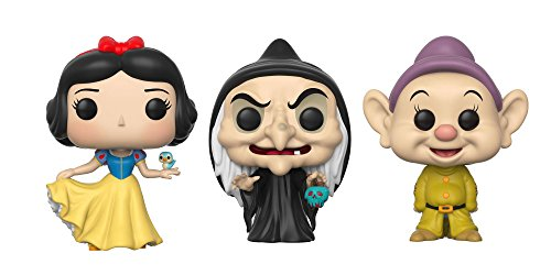 Funko Pop! Snow White Collectors Set of 3 - Snow White, Wicked Witch and Dopey ()