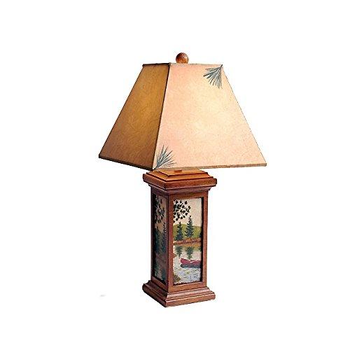 - Black Forest Decor Canoe Scene Table Lamp
