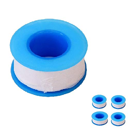 (Teflon Tape, PTFE Tape for Roll Plumber Sealant Tape for Leak Water Pipe Thread 3/4inch x 780 inch (4 Pack/White) by CagonLife)