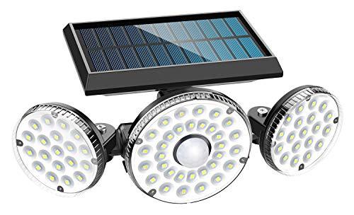 MPJ 70 Ledlampen op zonne-energie, voor buiten, met bewegingsmelder, IP65 waterdicht, 120° verlichtingshoek, 360…