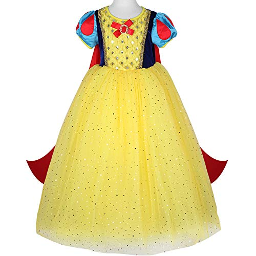 (Tsyllyp Baby Girl Snow White Princess Dress Up for Halloween Christmas Costumes with)