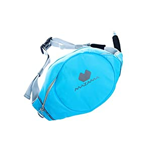 Mazama Designs Sidestream Go, 1.3 Liter Running Hydration Pack with Retracting Drink Tube, Hydration Belt for Running, Aqua Blue