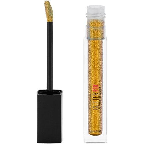 Maybelline Lip Studio Glitter Fix Glitter Lip Gloss Makeup, Gold Boost, 0.17 fl. (Lip Boost)