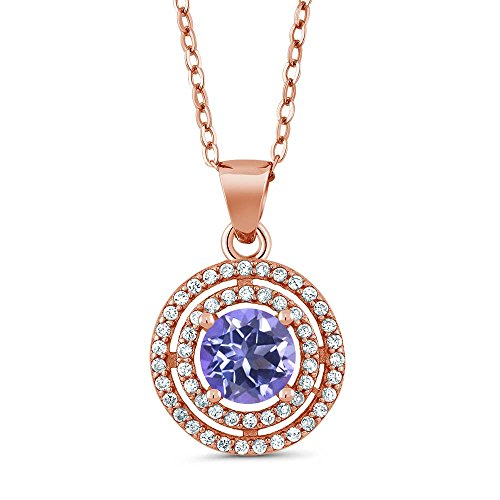 164-Ct-Round-Purple-Blue-Mystic-Topaz-18K-Rose-Gold-Plated-Silver-Pendant