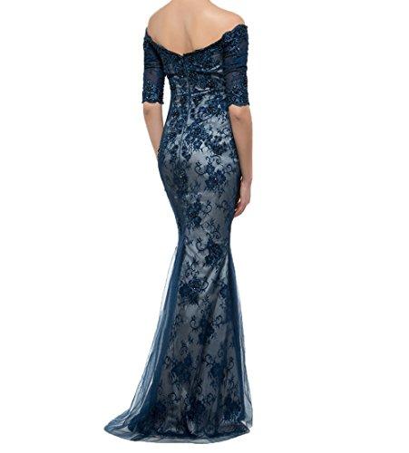 Brautmutterkleider Ballkleider mit Gruen Damen Partykleider Langarm Dunkel Meerjungfrau Charmant Abendkleider Langarm Elegant 1qx0wRAX