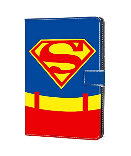 DC Faner Case for Amazon Fire 7, Kindle Fire 7 Case (7th generation - 2017 Release) Slim Leather Smart Case Cover with Auto Wake/Sleep for Fire 7 Tablet - Superman]()