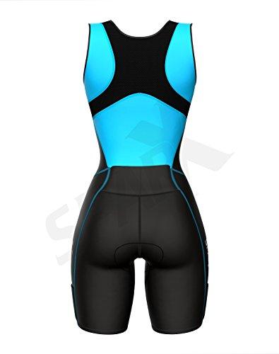 Sparx Women Triathlon Suit Tri Short Racing Cycling Swim Run (Small, Aqua) by Sparx Sports (Image #4)