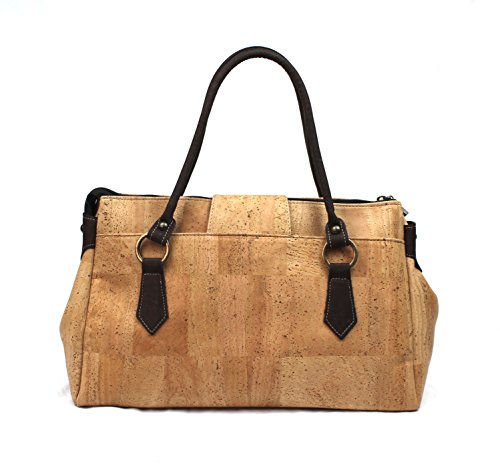 Shoulder Woman For By Bag Vegan Cork Natural Design Dux Fabric Premuim Genuine wCg5q5A