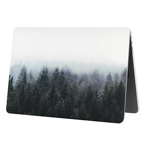 Case Star MacBook Pro 13 Inch Case 2019 2018 2017 2016 Release A1706 A1708 A1989 A2159 Ultra Thin Plastic Hard Sleeve Cover & Keyboard Cover & Anti-dust Brush-Forest